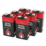 6 ANSMANN Alkaline Rauchmelder Batterien 9V/7 Jahre...