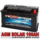 Solar Batterie 100AH 12V AGM Gel Versorgungsbatterie...