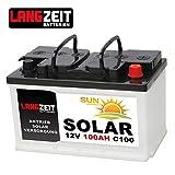 Solarbatterie 100Ah C100 12V Wohnmobil Boot Wohnwagen...
