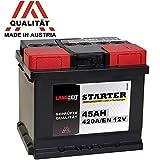 LANGZEIT Autobatterie 12V 45Ah ersetzt 36AH 40AH 41AH...
