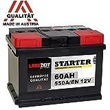 LANGZEIT Autobatterie 12V 60Ah ersetzt 53Ah 54Ah 55Ah...