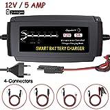 LEICESTERCN 12V 5A Automatische Autobatterie...