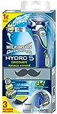Wilkinson Sword Hydro 5 Groomer Rasierer mit 3 Klingen...