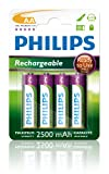 Philips R6B4RTU25/10 Rechargeable Akku AA (2500mAh,...