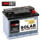 Solarbatterie 70Ah 12V Wohnmobil Boot Camping Schiff...