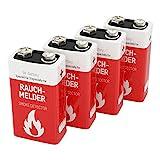 4 ANSMANN Rauchmelder Batterien Lithium 9V - 10 Jahre...