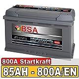 BSA Autobatterie 85Ah 12V 800A/EN ersetzt 70Ah 72Ah...