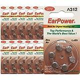 Hörgerätebatterie in der Größe 312 EarPower | Gelbe...