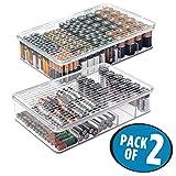 mDesign 2er-Set Batteriebox für AA, AAA und weitere...