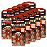 60 ANSMANN Hörgerätebatterien 312 Zink Luft 1,4V PR41...