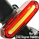 USB Wiederaufladbare Fahrrad Rücklicht, FisherMo COB...