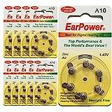 Hörgerätebatterie in der Größe 10 EarPower | Gelbe...