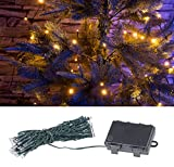 Lunartec Außenbeleuchtung: LED-Lichterkette mit 50...