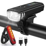 WQJifv LED Fahrradlicht Set, StVZO Zugelassen USB...