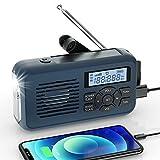 Raddy SW2 Kurbelradio Tragbares Solar Radio Notfall AM...