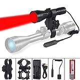 ULTRAFIRE 620nm Rotlicht LED Taktische Taschenlampe mit...