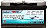 AGM Batterie 120AH Electronicx Marine Edition Boot...