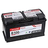 Accurat Autobatterie Starterbatterie B100 Basic 100Ah...