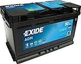 Exide Batteries EK800 AGM PKW Starter-Batterie, Schwarz