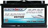 AGM Batterie 110AH Electronicx Marine Edition Boot...