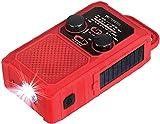 Retekess TR201 Solar Radio, Tragbares Kurbelradio...