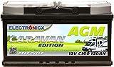 Electronicx Caravan Edition Batterie AGM 120 AH 12V...