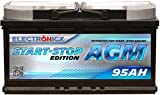 Electronicx AGM Autobatterie Starterbatterie Batterie...