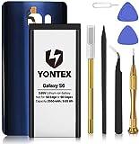 YONTEX Galaxy S6 Ersatz Akku mit Akkudeckel und...