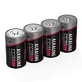 ANSMANN Batterien Mono D LR20 4 Stück 1,5V - Alkaline...