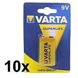 10x VARTA 9V SUPERLIFE Zink-Kohle Batterie 6F22 /...