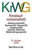Kreislaufwirtschaftsgesetz (KrWG): mit Verordnungen,...