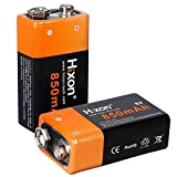 Hixon 9V Block Batterien Wiederaufladbare Li-Ion Akku...