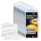 60x Duracell Activair 312 Hörgerätebatterien, 10x6er...