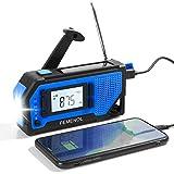 PEMENOL Outdoor Solar Radio, Multifunktion Tragbares...