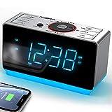 Radiowecker mit kabellosen Bluetooth, Digital-FM-Radio,...