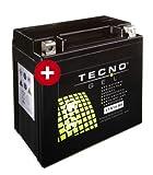 TECNO GEL Motorrad-Batterie YTX14-BS, 12V Gel-Batterie...