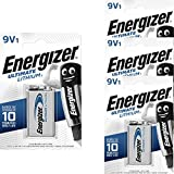 Energizer 4 9V Lithium Batterien Lithium 9V-Block...