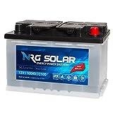 NRG SOLAR 12V 100Ah Solarbatterie Boot...