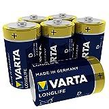 VARTA Longlife Batterie D Mono Alkaline Batterien LR20,...
