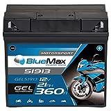 BlueMax +30 Motorsport Motorradbatterie GEL 12V 21Ah...