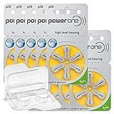 60x Power One 10 Hörgerätebatterien 10x6er Blister...