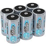 ANSMANN Akku D 10000 mAh NiMH 1,2 V (6 Stück) - Mono D...