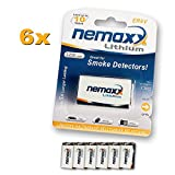 6X Nemaxx Lithium 9V Block Batterie Set für...