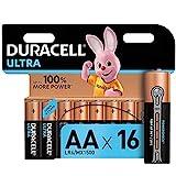 Duracell Ultra AA Mignon Alkaline Batterien LR6, 16er...