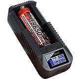 kraftmax BC-1000 USB Akku Ladegerät für 18650/26650 /...