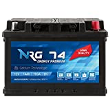 NRG Premium Autobatterie 12V 74Ah ersetzt 66AH 68AH...