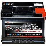 Autobatterie 12V 45Ah 440A/EN BlackMax PKW-Batterie...