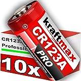 kraftmax 10er Pack CR123 / CR123A Lithium...