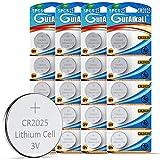 GutAlkaLi 20 Stück CR2025 3V Lithium Knopfzellen CR...