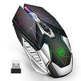U10 kabellose Mouse, 2.4G Funkmaus Wiederaufladbar...